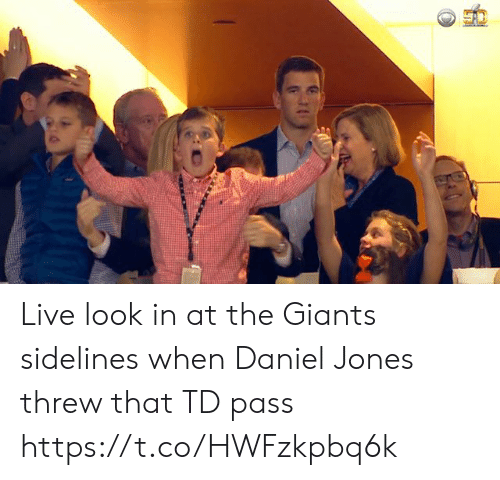 sidelines: Live look in at the Giants sidelines when Daniel Jones threw that TD pass https://t.co/HWFzkpbq6k