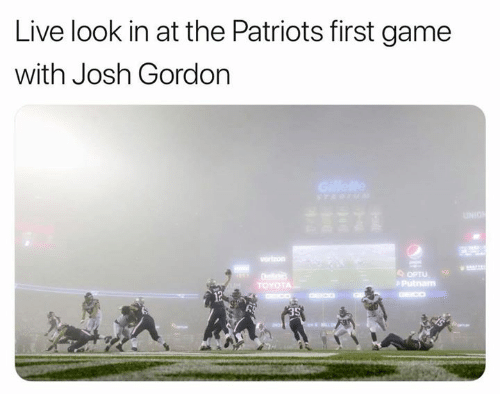 0fd309211 Nfl, Patriotic, and Game: Live look in at the Patriots first game with Josh  Gordon OPTU Putnam