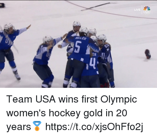 Hockey, Live, and Usa: LIVE  MELLER  ER  4 Team USA wins first Olympic women's hockey gold in 20 years🥇 https://t.co/xjsOhFfo2j