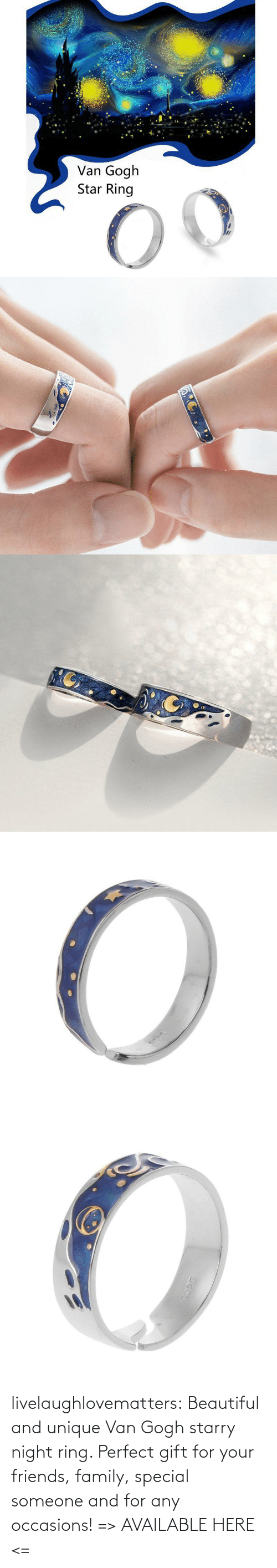 van gogh: livelaughlovematters: Beautiful and unique Van Gogh starry night ring. Perfect gift for your friends, family, special someone and for any occasions! => AVAILABLE HERE <=