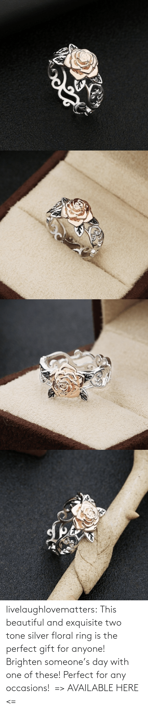 tone: livelaughlovematters: This beautiful and exquisite two tone silver floral ring is the perfect gift for anyone! Brighten someone's day with one of these! Perfect for any occasions!  => AVAILABLE HERE <=