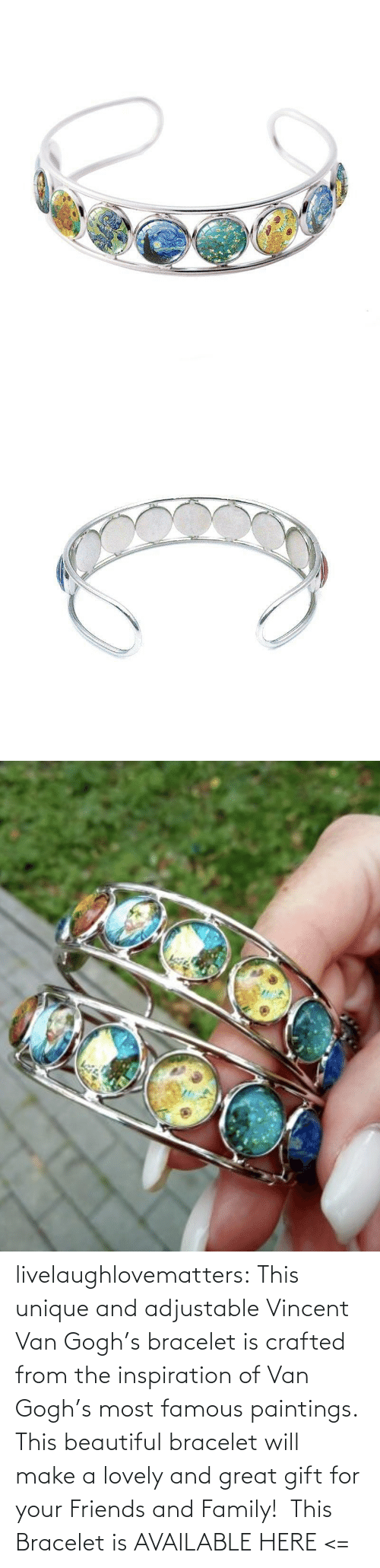 van gogh: livelaughlovematters: This unique and adjustable Vincent Van Gogh's bracelet is crafted from the inspiration of Van Gogh's most famous paintings. This beautiful bracelet will make a lovely and great gift for your Friends and Family!  This Bracelet is AVAILABLE HERE <=