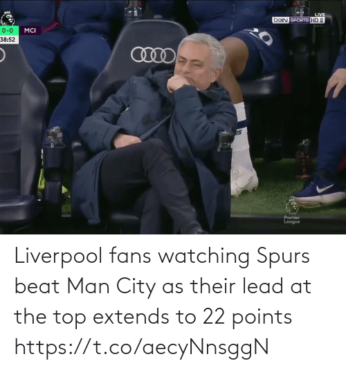 Extends: Liverpool fans watching Spurs beat Man City as their lead at the top extends to 22 points https://t.co/aecyNnsggN