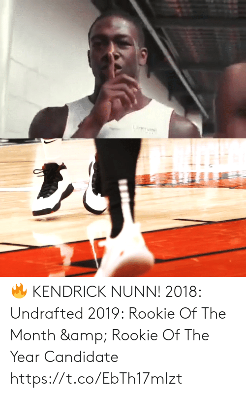 Memes, Kendrick, and 🤖: LiY 🔥 KENDRICK NUNN!    2018: Undrafted 2019: Rookie Of The Month & Rookie Of The Year Candidate   https://t.co/EbTh17mIzt