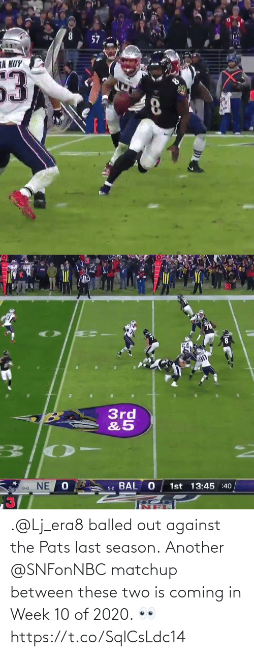 Coming In: .@Lj_era8 balled out against the Pats last season.  Another @SNFonNBC matchup between these two is coming in Week 10 of 2020.  👀 https://t.co/SqlCsLdc14