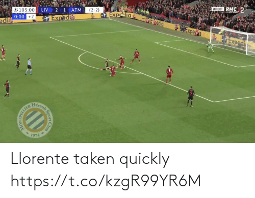 Taken: Llorente taken quickly https://t.co/kzgR99YR6M