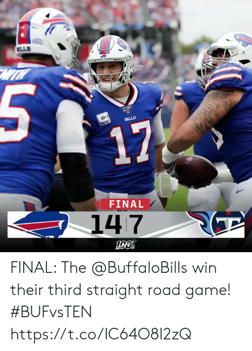 lls: LLS  BILLS  17  FINAL  147 FINAL: The @BuffaloBills win their third straight road game! #BUFvsTEN https://t.co/IC64O8I2zQ