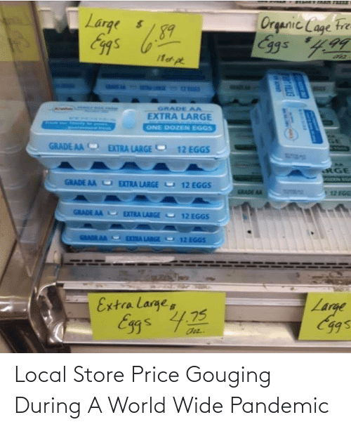 Price Gouging: Local Store Price Gouging During A World Wide Pandemic