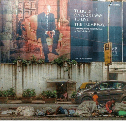 Live, Trump, and Only One: LODHA  THERE IS  ONLY ONE WAY  TO LIVE  THE TRUMP WAY  Launching Trump Tower Mumbai  at The Park, Worli.  ER  sms TRUMP to 56161