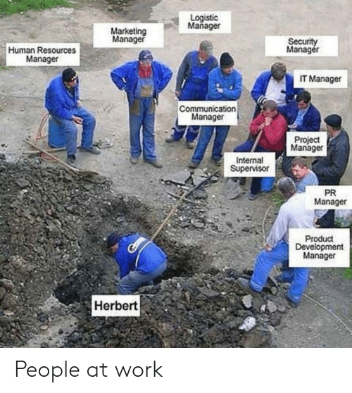 Work, Human, and Marketing: Logistic  Mañager  Marketing  Manager  Security  Manager  Human Resources  Manager  IT Manager  Communication  Manager  Project  Manager  Internal  Supervisor  PR  Manager  Product  Development  Manager  Herbert People at work