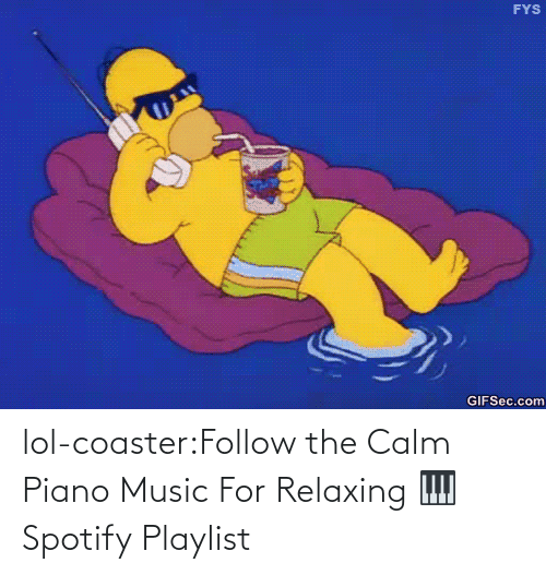 Spotify: lol-coaster:Follow the Calm Piano Music For Relaxing 🎹 Spotify Playlist