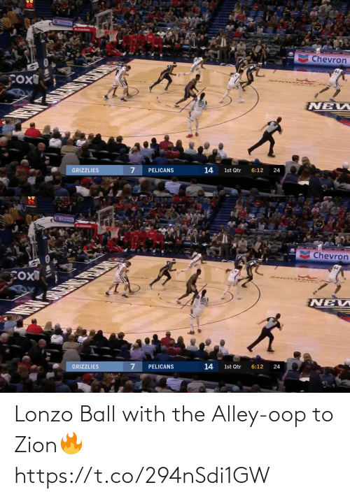 Alley: Lonzo Ball with the Alley-oop to Zion🔥 https://t.co/294nSdi1GW