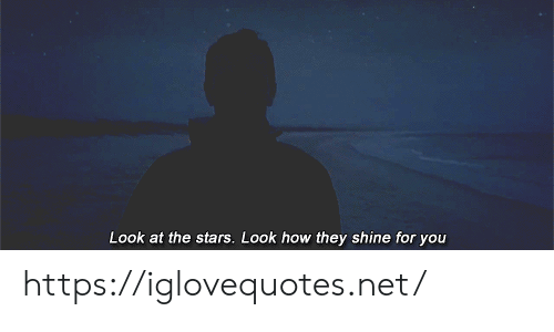 Stars, How, and Net: Look at the stars. Look how they shine for you https://iglovequotes.net/