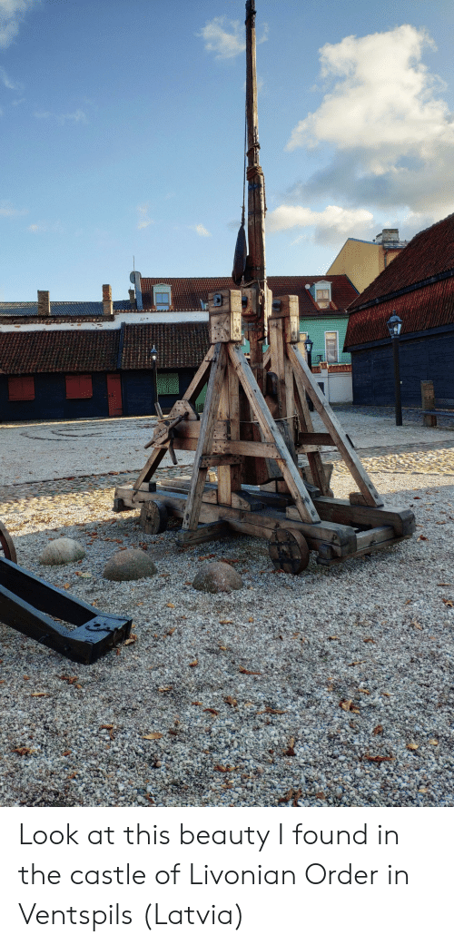 The Castle, Castle, and Latvia: Look at this beauty I found in the castle of Livonian Order in Ventspils (Latvia)
