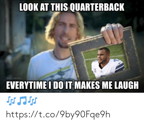 Football, Memes, and Nfl: LOOK AT THIS QUARTERBACK  @NFL_MEMES  EVERYTIMEI DO IT MAKES ME LAUGH 🎶🎵🎶 https://t.co/9by90Fqe9h