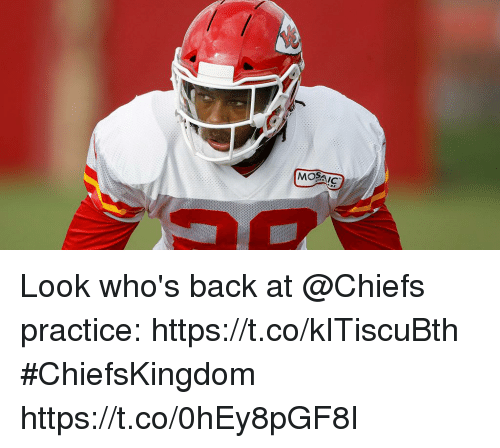 Memes, Chiefs, and Back: Look who's back at @Chiefs practice: https://t.co/kITiscuBth #ChiefsKingdom https://t.co/0hEy8pGF8I