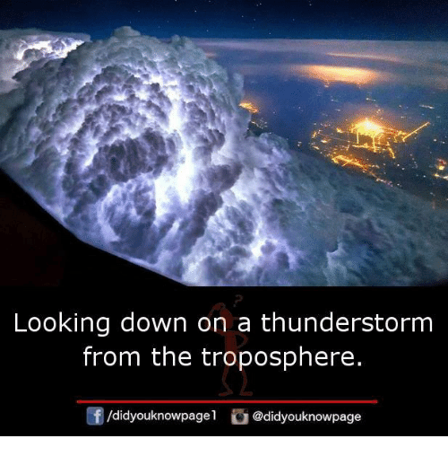 Thunderstorming: Looking down on a thunderstorm  from the troposphere.  /didyouknowpagel @didyouknowpage