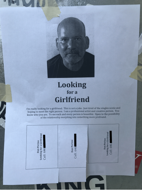 I am looking for a girlfriend