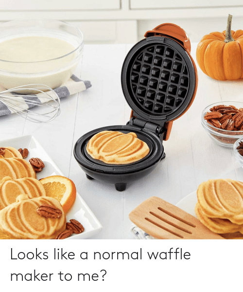 maker: Looks like a normal waffle maker to me?