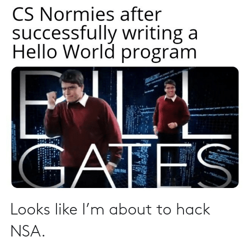 Looks Like: Looks like I'm about to hack NSA.