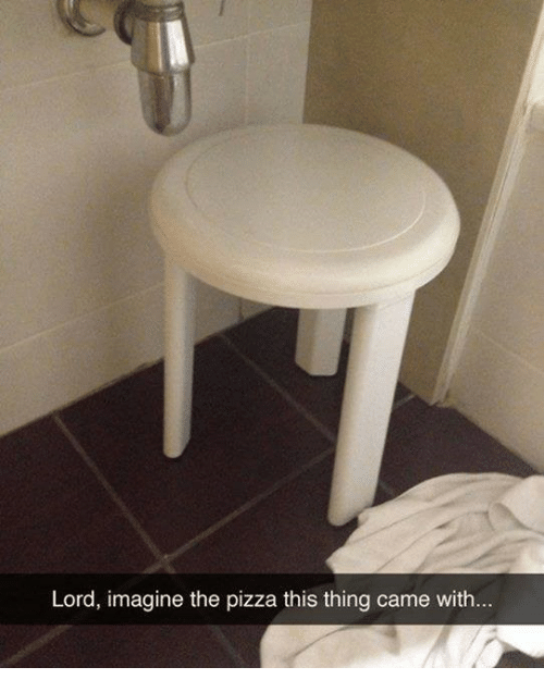 Pizza, Lord, and Imagine: Lord, imagine the pizza this thing came with
