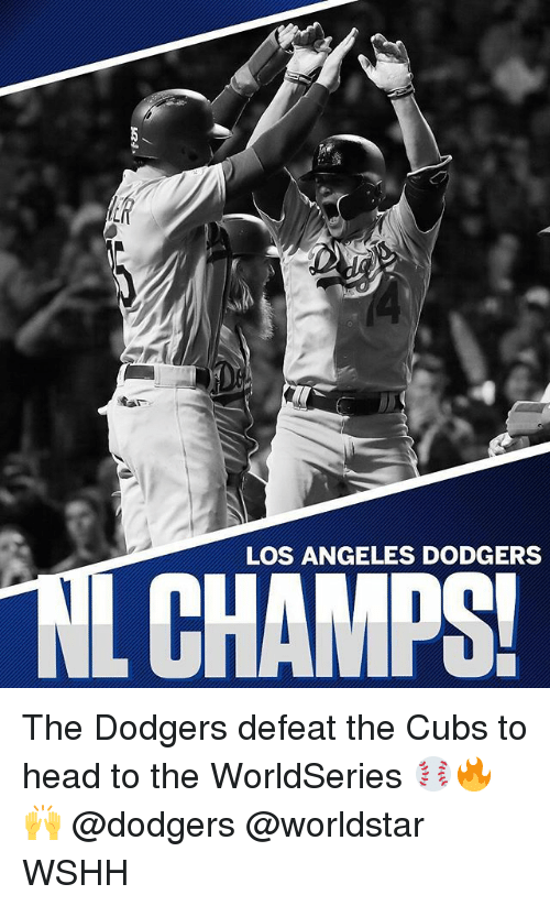 dodgers: LOS ANGELES DODGERS The Dodgers defeat the Cubs to head to the WorldSeries ⚾️🔥🙌 @dodgers @worldstar WSHH
