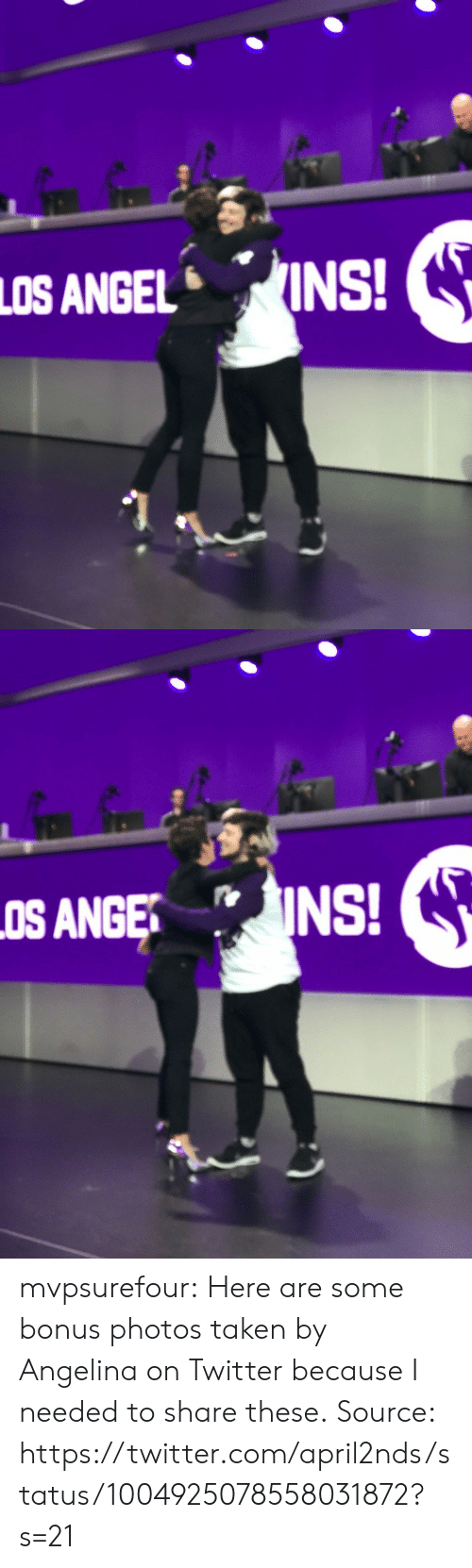 angelina: LOS ANGELINS! mvpsurefour: Here are some bonus photos taken by Angelina on Twitter because I needed to share these.  Source: https://twitter.com/april2nds/status/1004925078558031872?s=21