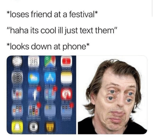 "Clock, Phone, and Cool: *loses friend at a festival*  ""haha its cool ill just text them""  ""looks down at phone*  Clock  ADP Stor"