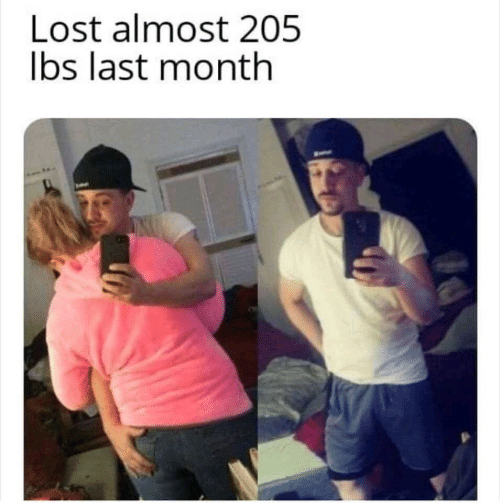 lbs: Lost almost 205  lbs last month