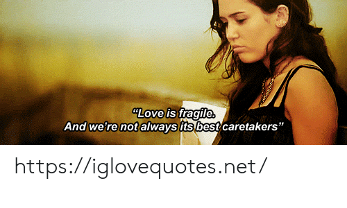 """Love, Best, and Net: LOve is fragile  And we're not always its best caretakers"""" https://iglovequotes.net/"""