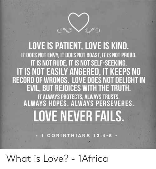Love Is Patient Love Is Kind It Does Not Envy It Does Not