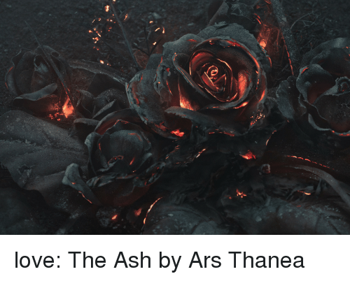 Ash, Love, and Tumblr: love: The Ash by Ars Thanea