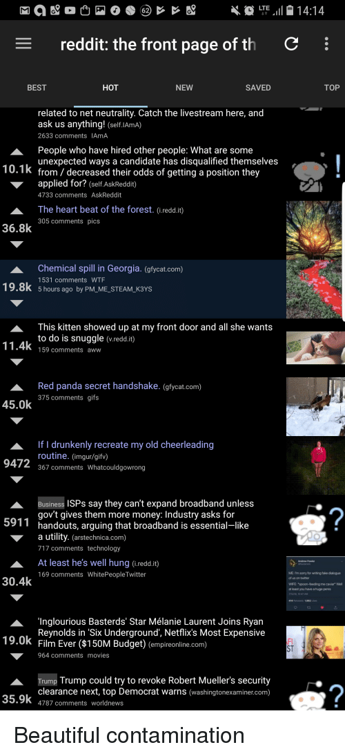 LTE1414 Reddit the Front Page of Th BEST HOT NEW SAVED TOP
