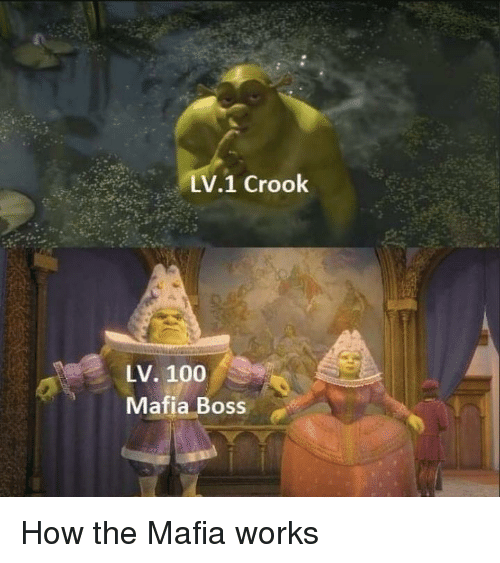 Anaconda, How, and Mafia: LV1 Crook  LV. 100  Mafia Boss How the Mafia works