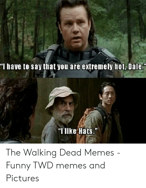 "the walking dead memes: ""M have to say that you are extremely hot, Dale  ""like Hats."" The Walking Dead Memes - Funny TWD memes and Pictures"
