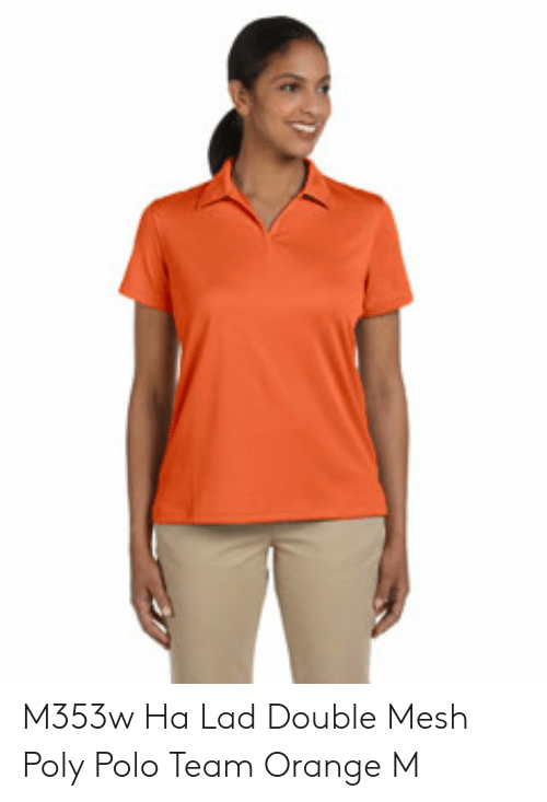 Orange Lad: M353w Ha Lad Double Mesh Poly Polo Team Orange M