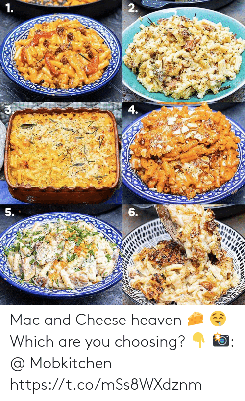 Heaven: Mac and Cheese heaven 🧀 🤤   Which are you choosing? 👇  📸: @ Mobkitchen https://t.co/mSs8WXdznm