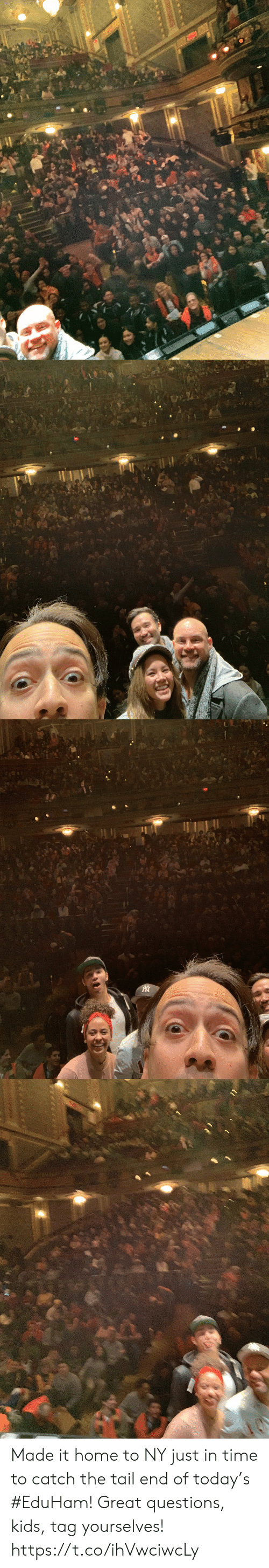Memes, Home, and Kids: Made it home to NY just in time to catch the tail end of today's #EduHam! Great questions, kids, tag yourselves! https://t.co/ihVwciwcLy