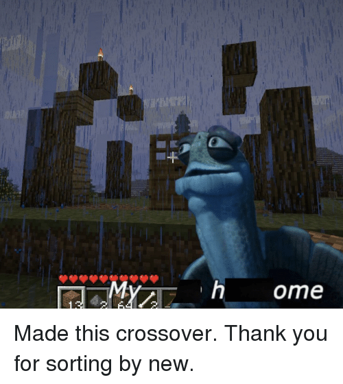 Thank You, Crossover, and New: Made this crossover. Thank you for sorting by new.