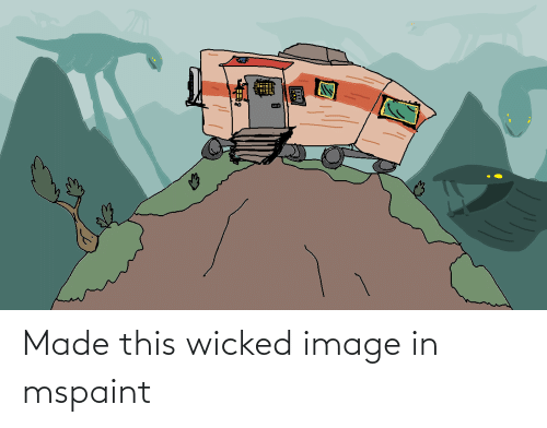 Wicked: Made this wicked image in mspaint