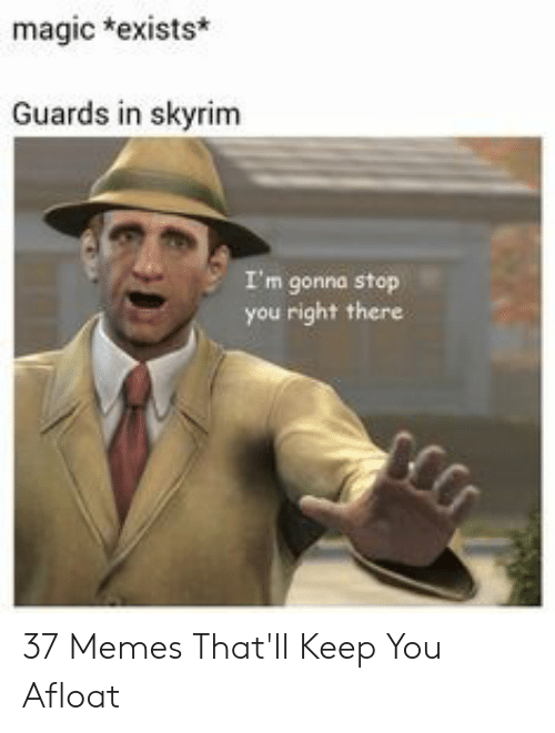 Magic *Exists* Guards in Skyrim I'm Gonna Stop You Right There 37