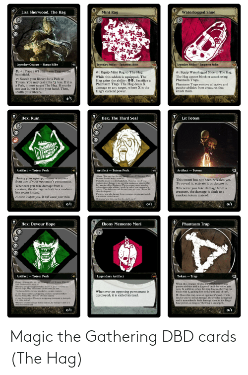 cards: Magic the Gathering DBD cards (The Hag)