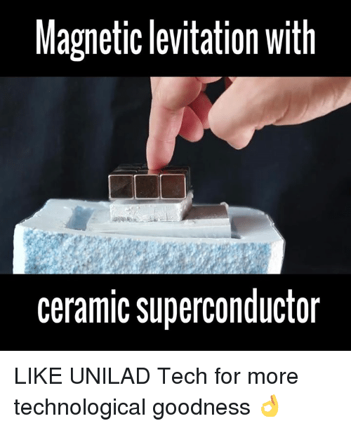 levitation: Magnetic levitation with  ceramic superconductor LIKE UNILAD Tech for more technological goodness 👌
