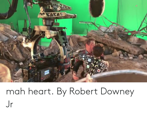 Robert Downey Jr.: mah heart.  By Robert Downey Jr