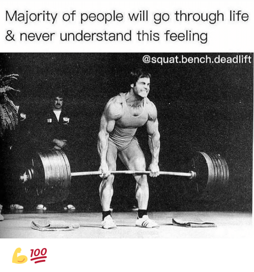 Life, Squat, and Never: Majority of people will go through life  & never understand this feeling  @squat.bench.deadlift 💪💯