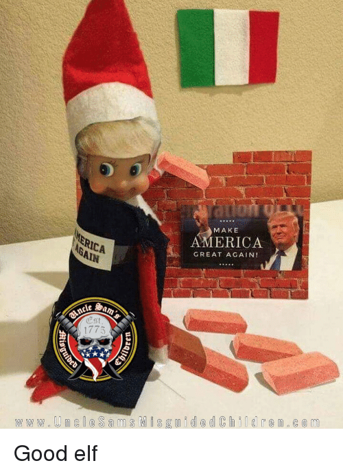 America Great Again: MAKE  AMERICA  GREAT AGAIN!  Est Good elf
