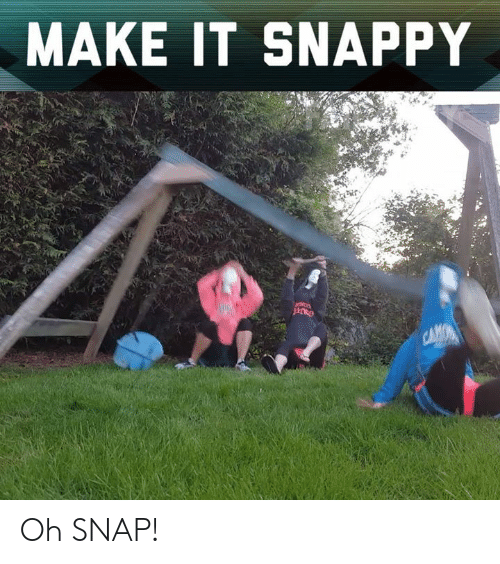 Memes, 🤖, and Snap: MAKE IT SNAPPY Oh SNAP!