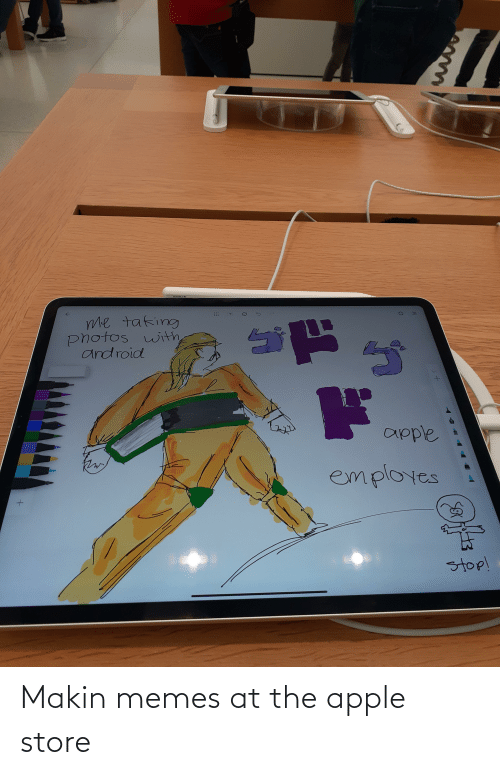 Apple Store: Makin memes at the apple store