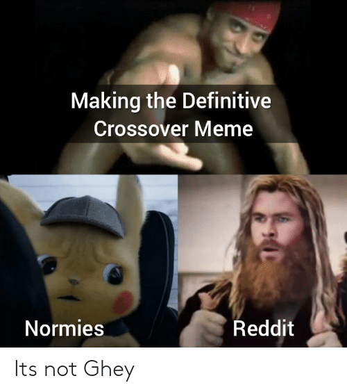 Meme, Reddit, and Crossover: Making the Definitive  Crossover Meme  Reddit  Normies Its not Ghey