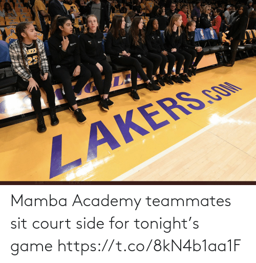 Sit: Mamba Academy teammates sit court side for tonight's game https://t.co/8kN4b1aa1F